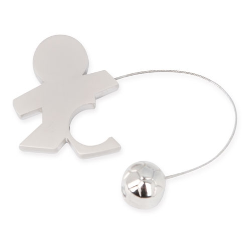 CHILD WITH BALL METAL KEY-RING