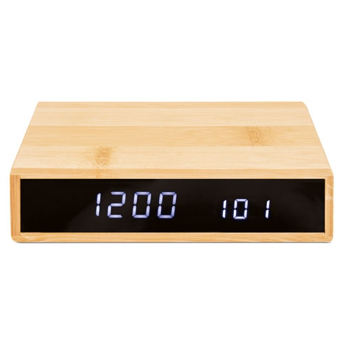 ALARM CLOCK WITH WIRELESS CHARGER AND TEMPERATURE