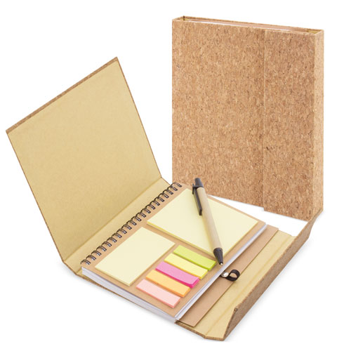 MAGNETIC CORK NOTEBOOK