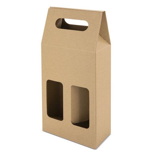 OPEN CARTON BOX 2 BOTTLES