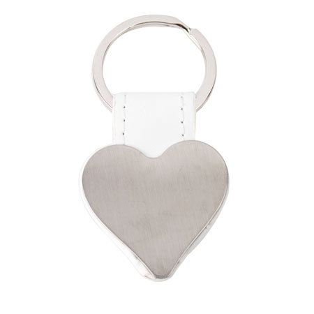 HEART SHAPED METAL KEY-RING