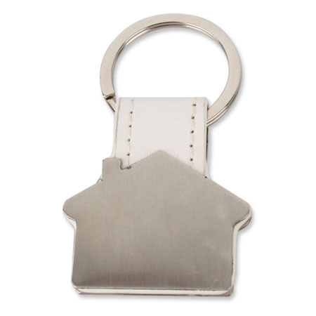 HOUSE SHAPED METAL KEY-RING