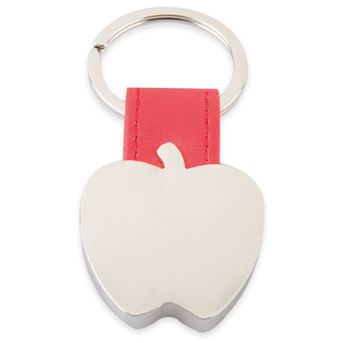 APPLE SHAPED METAL KEY-RING