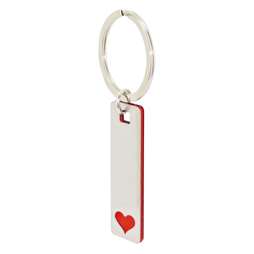 ELONGATED HEART KEY-RING