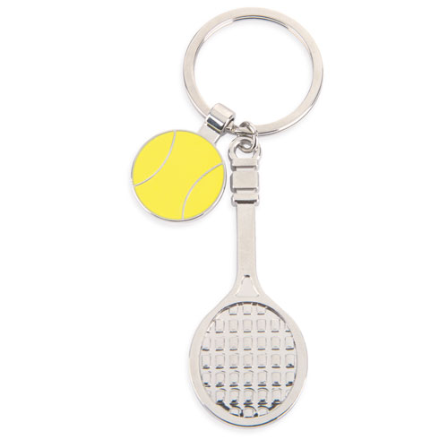 METALLIC KEYRING TENNIS