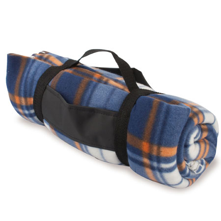 TRAVEL SQUARES POLAR FLEECE BLANKET