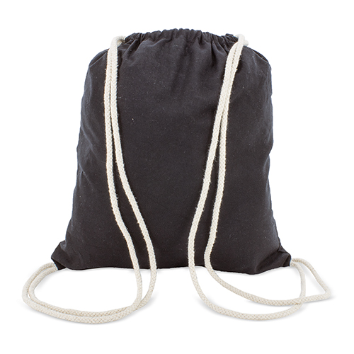 BLACK COTTON BACKPACK