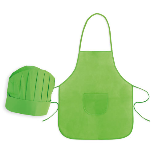 NON WOVEN APRON + CHEF HAT SET FOR KIDS