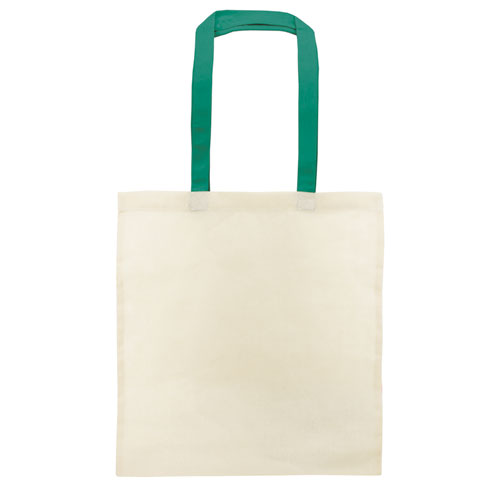 COTTON BAG COLOURED HANDLE