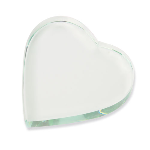 HEART SHAPED GLASS TROPHÉE