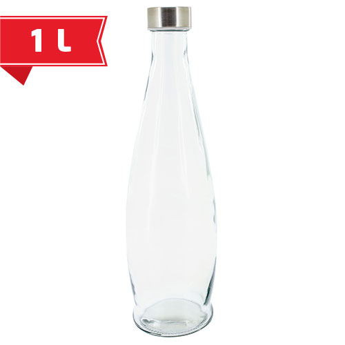 GLASS BOTTLE 1L AQUA SANA