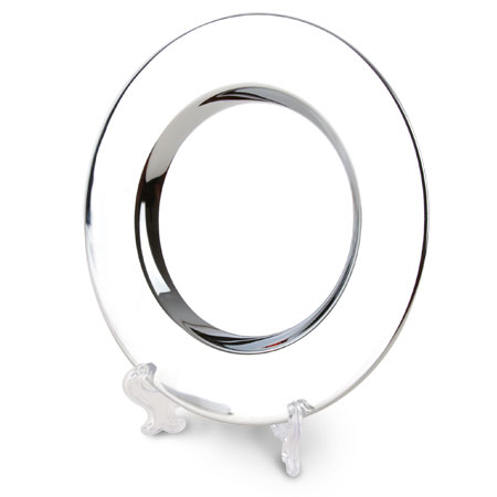 CHROME ROUND TRAY