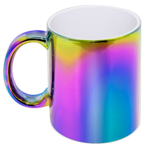 METALIC CERAMIC MUG MULTICOLOR