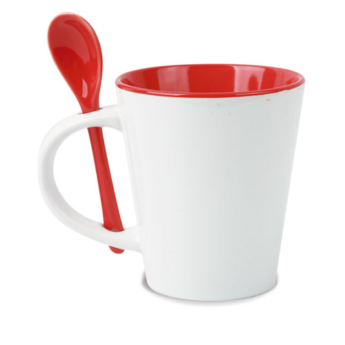 CERAMIC MUG WITH SPOON