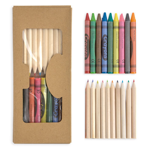 10 COLOURING PENCILS SETAX PENCILS
