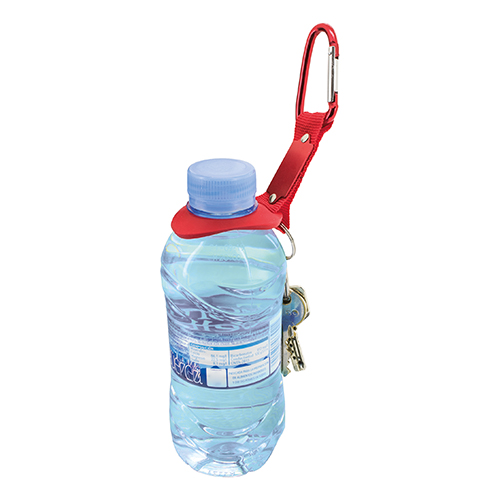 BOTTLE HOLDER KEYRING + CARABINER  NAN