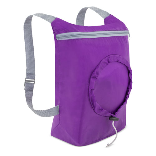 PURPLE FOLDING BACKPACK