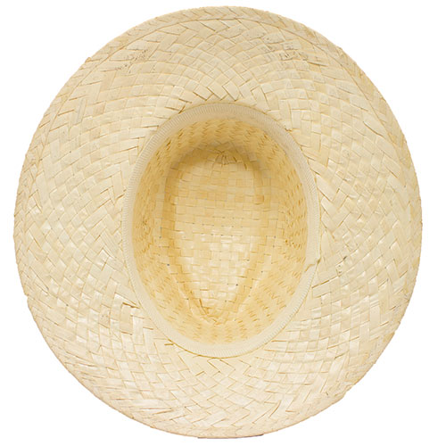 IVORY STRAW HAT RIBBON INSIDE