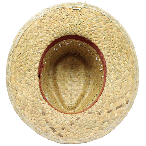 GREEN STRAW HAT INSIDE RIBBON
