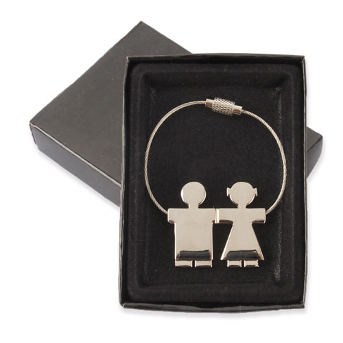 DUO METAL KEY-RING