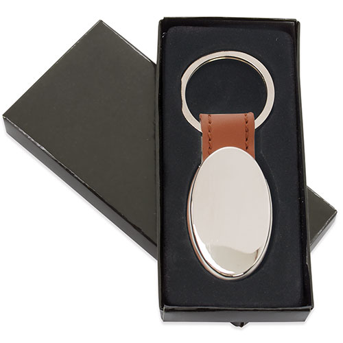 OVAL METAL KEY-RING