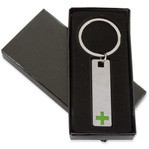 ELONGATED CROSS KEY-RING