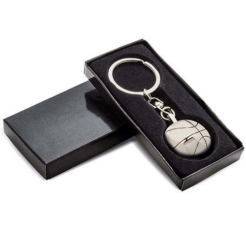 BASKETBALL METAL KEY-RING