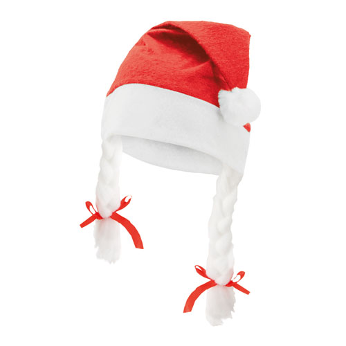 CHRISTMAS HAT WITH PLAITS