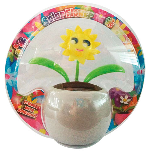 ECO SOLAR SUNFLOWER POT