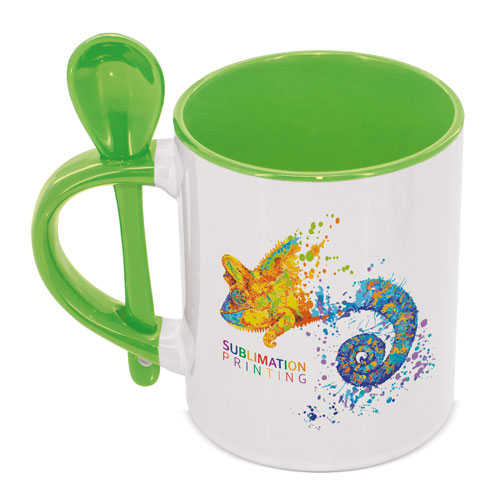 ROUND SUBLIMATION MUG WITH SPOON