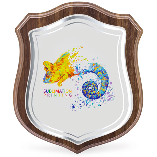 Modern shield-shaped trophy for sublimation